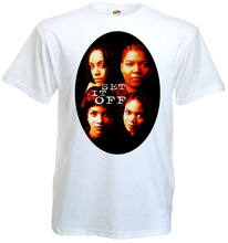 Set It Off V2 T-shirt White Movie Poster All Sizes S-3XL Tops Male T Shirts(China)