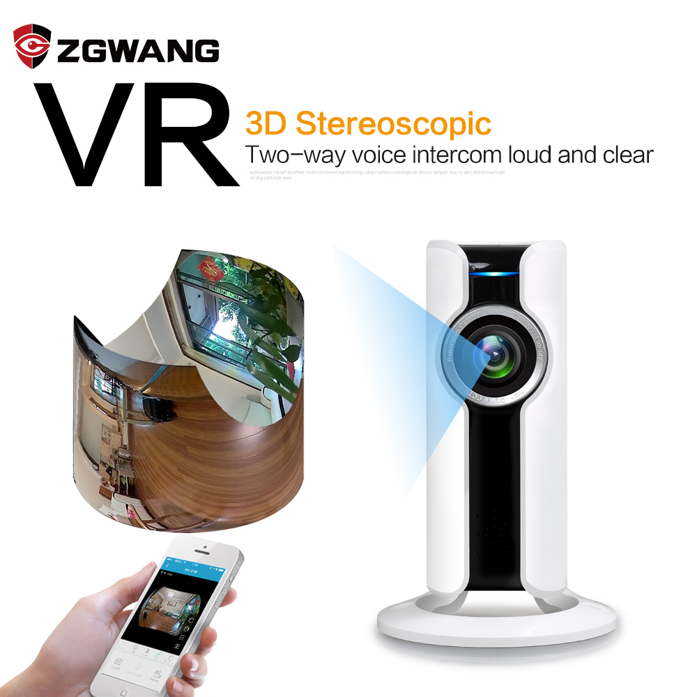 New ZGWANG 720P HD Wireless Wifi VR Mini Ip Camera Smart 180 Panoramic Network Night Vision