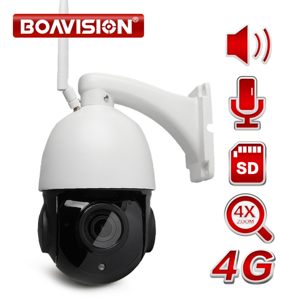 1080P 3G 4G WIFI Speed Dome PTZ IP Camera Wi-Fi Outdoor Two Way Audio Speaker 4X 18X Optical Zoom CCTV Camera SIM Card SD Card ps vita дешево 3g wi fi