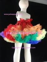 Girls Skirts Orange Rainbow Baby Tutu Skirts Halloween Fluffy Pettiskirts Patchwork PPER0009