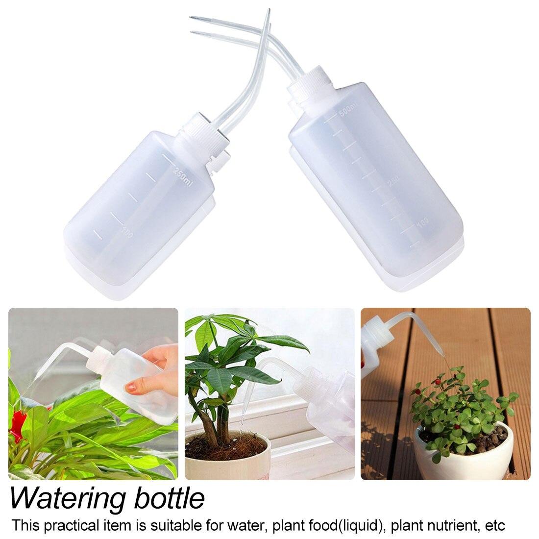 500ML Plastic Plant Flower Watering Bottle for Garden Indoor Transparent