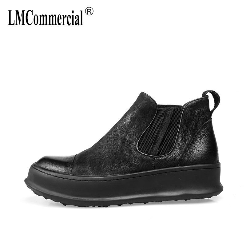 Martin boots autumn winter British retro men high-top shoes all-match cowhide Genuine Leather men's boots Chelsea boots sneaker 2017 new autumn winter men leather shoes casual all match british tide fashion shoes breathable sneaker shoes