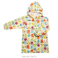 Children raincoat Kids Raincoats Owl poncho Waterproof Lovely Kids Nylon Hiking Rainwear kids raincoat for 110cm 145cm tall