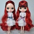 Бесплатная доставка обнаженная блит куклы, Кольцо рыжие волосы, Большой глаз куклы, Для подарка девушке, Pj0015