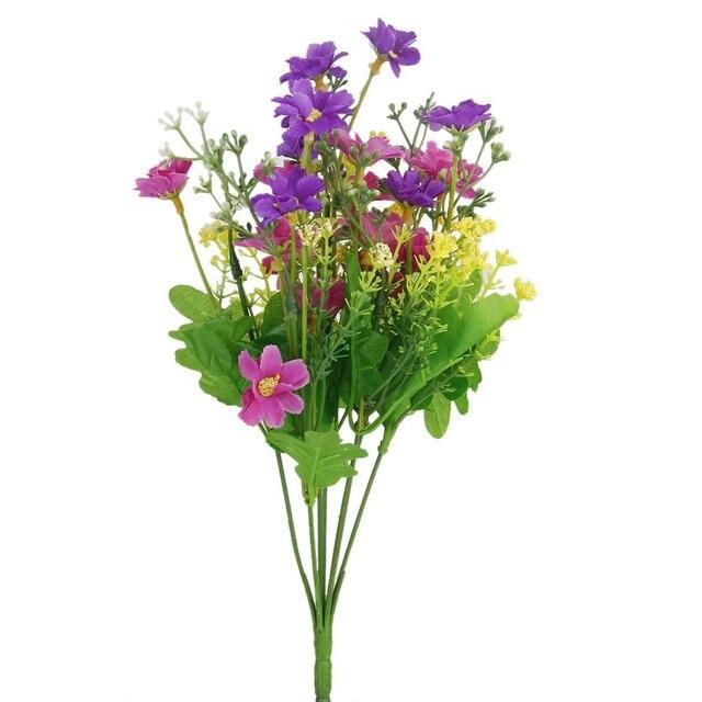 1 Bouquet de Cineraire Faux Bouquet de Fleurs Artificielles gießen ...