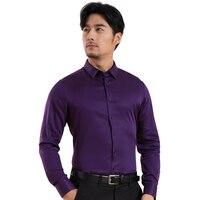 Thick Warm Men Shirts Dress Shirts Solid Oxford Fashion Men Tops Winter Long Shirts New Cotton Shirts Camisa Masculina X75514L