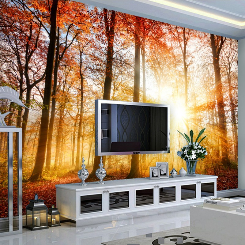 Custom photo wallpaper Natural scenery Sun shine Mangrove backdrop murals custom Living room high quality wallpaper custom photo wallpaper natural scenery mangrove landscape custom wallpaper business hotel home decoration backdrop murals