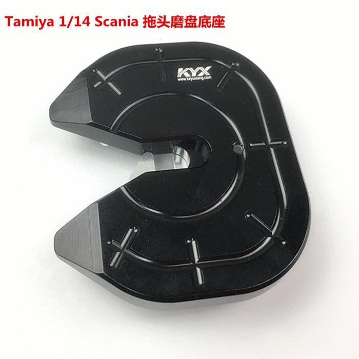 KYX remorque métal mise à niveau en alliage d'aluminium base de disque pour Tamiya 1/14 Scania R620