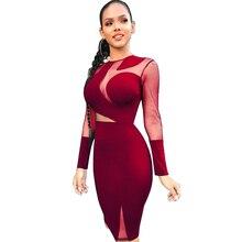 spring womens dress stitching Slim sexy black silk nightclub wine red royal blue