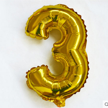 40 inches Gold Number Foil Balloons Large Digit Helium Balloons wedding decorations Baby Showe Birthday Party Supplies
