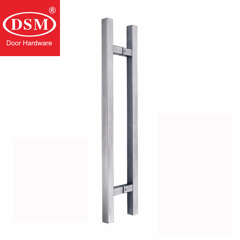 304 Stainless Steel Pull Handle Entrance Door Handles For Entry/Front/Store Glass/Timber/Metal Frame Doors PA-190 2000mm length square tube golden entrance door handle stainless steel pull handles for wooden metal glass doors pa 637