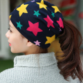 Autumn Fashion New Knit Baggy Beanie Hat with Star Female Warm Winter Hats for Girls Women Beanies Bonnet Head Cap ZQDAX