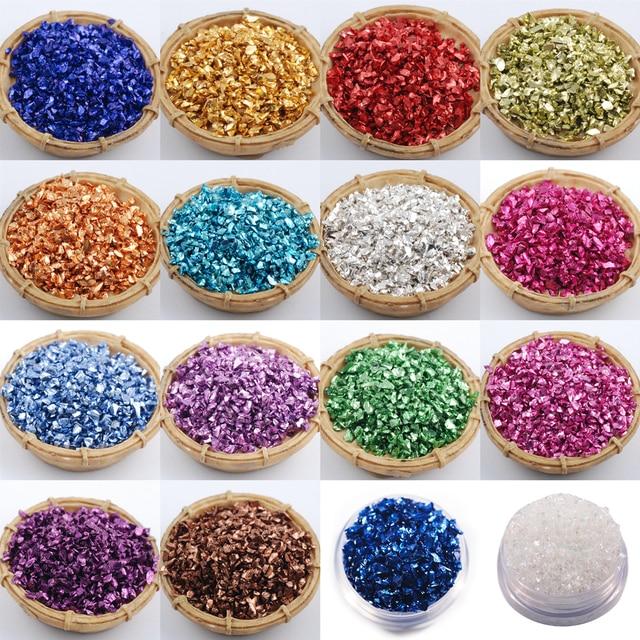 Wholesale prices 450g/Bag Broken Glass Rhinestones for Nails Gems 3D Mix Nail Art Rhinestone Decorations Stones 1
