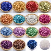 Wholesale prices 450g/Bag Broken Glass Rhinestones for Nails Gems 3D Mix Nail Art Rhinestone Decorations Stones