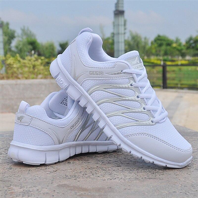 Femmes Chaussures Blanc Sneakers Femmes Air Mesh Breathble Tenis Feminino Léger Casual Vulcanisé Chaussures Formateurs Panier Femme