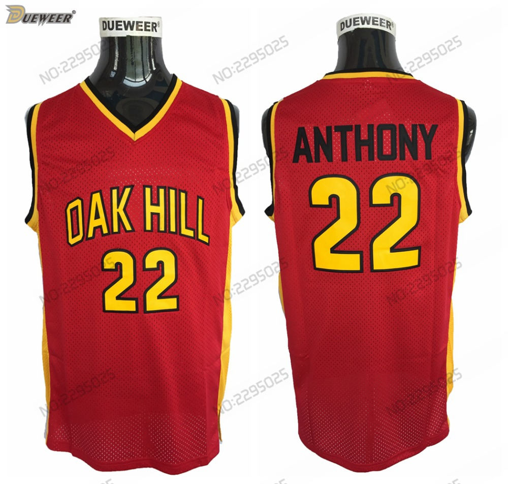 5fe57a2bdfd7 DUEWEER Mens  22 Carmelo Anthony Oak Hill High School Basketball Jersey  Cheap Yellow Carmelo Anthony Stitched Basketball Shirts-in Basketball  Jerseys from ...