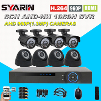 8CH CCTV System Home Safety 1080N Full 960P 8 Channel 1 3MP HD AHD DVR 1800TVL