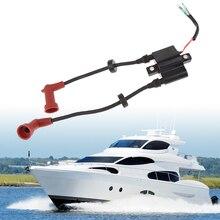 Marine silnik zaburtowy cewka zapłonowa Assy dla Yamaha 9.9/13.5/15/20/25/40HP 2/4 suwowy silnik 21/24cm akcesoria do łodzi