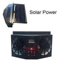 PolarLander 12V Car Ventilation Fan Solar Sun Power Black Window Auto Ventilator Cooler Air Radiator Vent