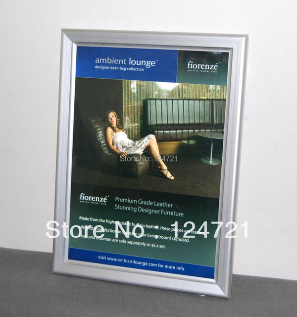 A3 Size Snap Frame Led Advertising Aluminium Profile Slim Lightbox