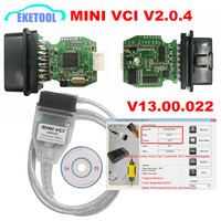 Newest MINI VCI V2.0.4 Real Firmware Upgraded SW V13.00.022 For Toyota TIS Techstream j2534 K Line CAN BUS FT232RL