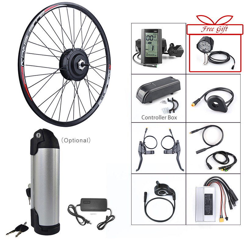 36V 250W Bafang eBike Brushless Gear Rear Hub Motor Electric Bicycle Conversion Kit with 10Ah Wheel
