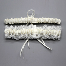 Wedding Garter, Bridal Garter, Lace Garter Set Floral Stretch Lace Bridal Garter  Lace & Pearls style