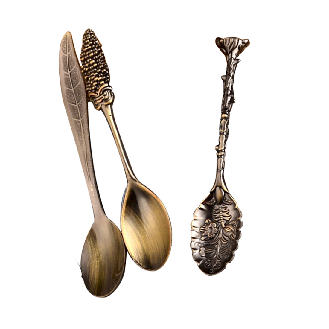 US $3.52 18% OFF|cozinha 6pcs/set Vintage Royal Style Bronze Carved Small  Coffee Tools Tableware and Forks kitchen Accessories-in Dinnerware Sets  from ...