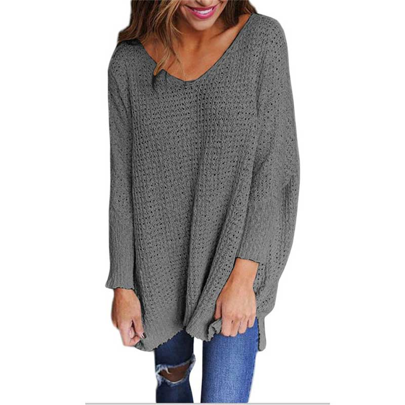 2017 Winter Thick Long Sweater Women V Neck Warm Knitted Sweater Female Pullover Women Sweaters And Pullovers Christmas Sweater