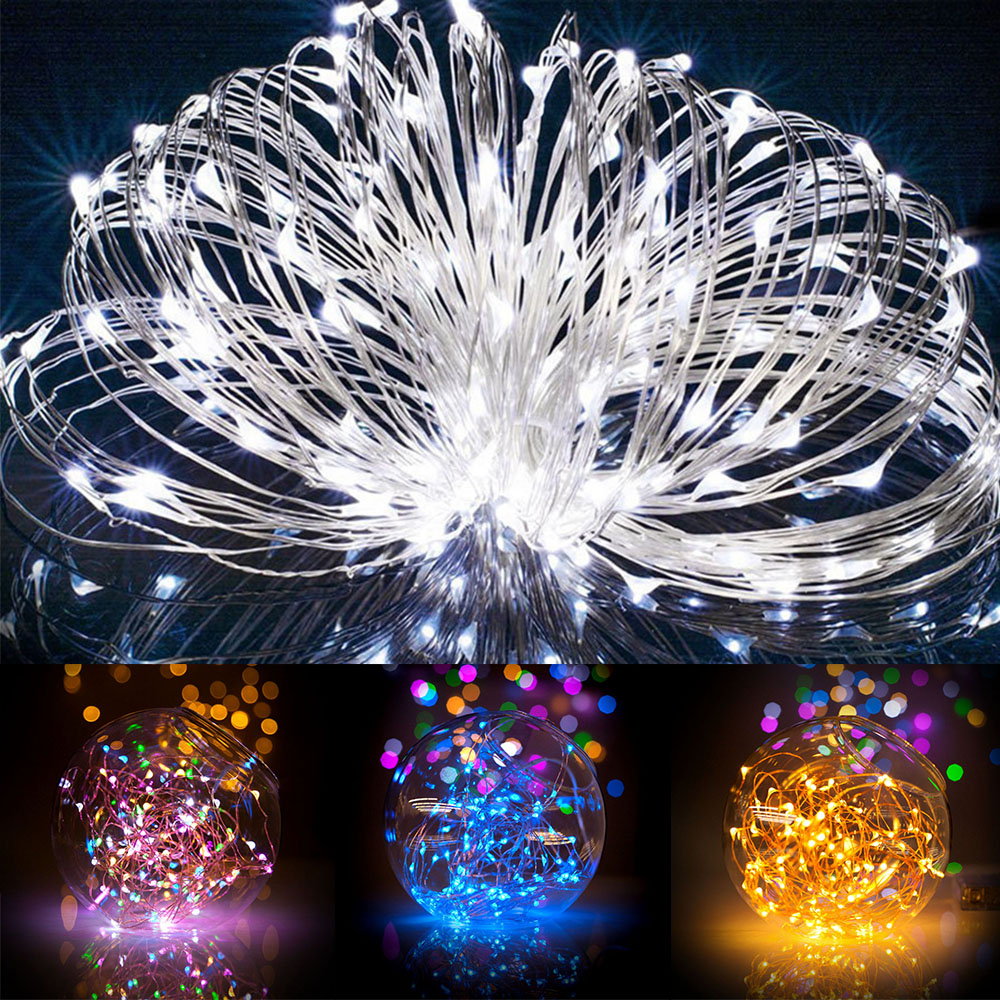 Solar Powered String Lights 20M 200 LEDs Copper Wire Outdoor Fairy Light for Christmas New Years Garden Home Holiday Decorations