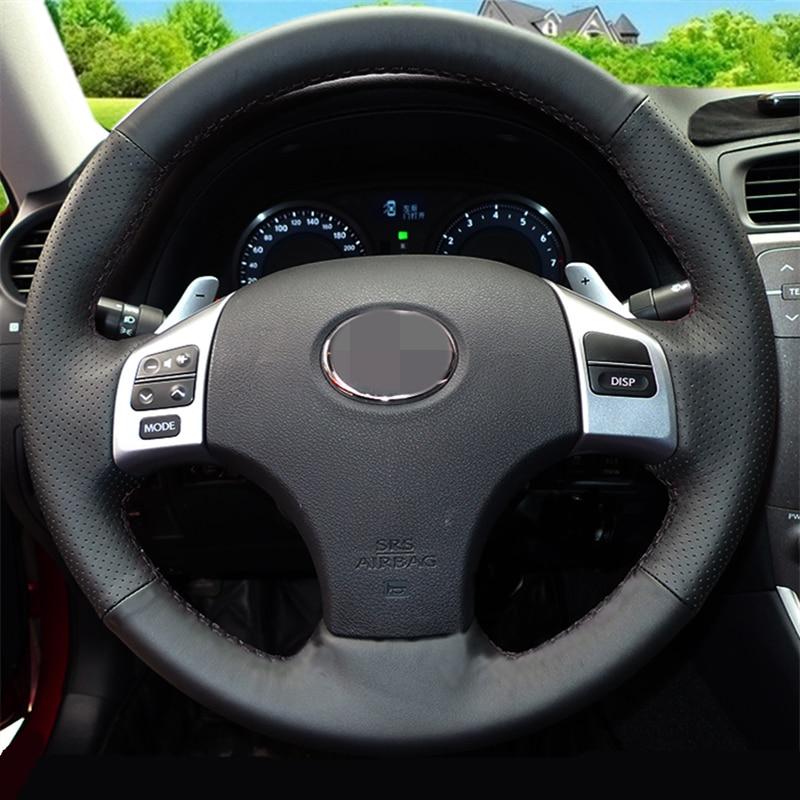 Sjajno crno Umjetna koža Poklopac upravljača za Lexus IS250 IS250C - Dodaci za unutrašnjost automobila - Foto 2