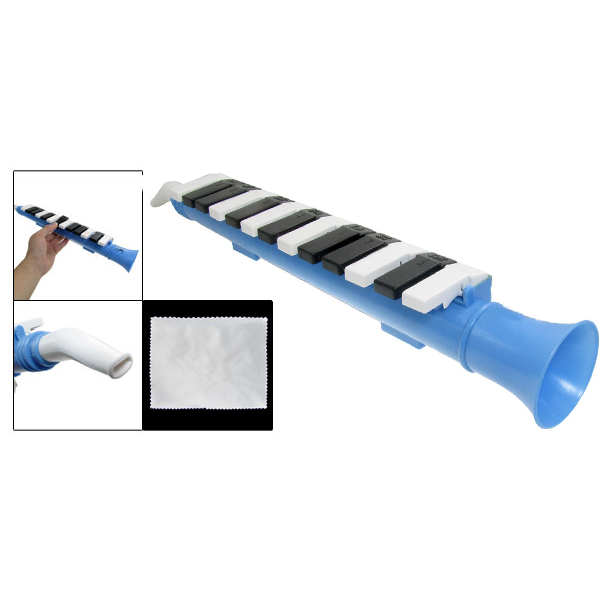 Yaootely Blue 13 Keys Note Melodica Mouth Organ Portable Wind Piano