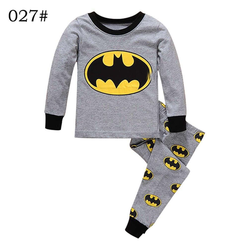 Брендовая Пижама для мальчиков Одежда для детей Пижама с Бэтменом комплект детской одежды для маленьких мальчиков детские пижамы с рисунками из мультфильмов Демисезонный пижамы