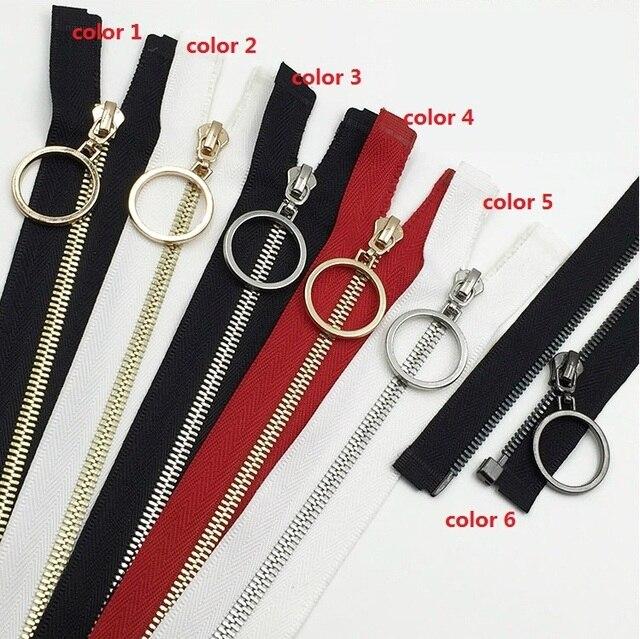 3 Metal Copper Zipper With Ring Puller For Skirt Coat Clothing Bags Repair 2pcs