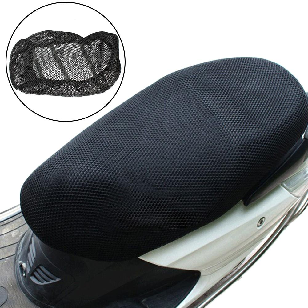 Motorcycle Electric Bike Sunscreen Seat Cover Mesh Breathable Waterproof Cushion