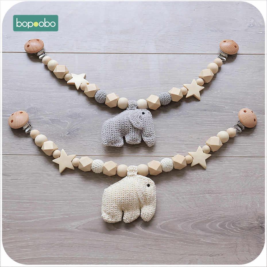 Bopoobo 1 шт. детская погремушка мобильный игрушечный слон коляска панель активности с погремушкой кровать колокольчики манекен клип Успокаивающая игрушка держатель пустышки