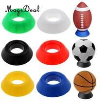 MagiDeal wytrzymały stojak na piłkę-koszykówka piłka nożna piłka do rugby patera stojak na pudełko-lekki i praktyczny