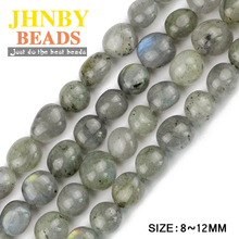 JHNBY Labradorite Irregular Gravel Smooth Nugget spectrolite Natural Stone Chips beads Jewelry bracelet making DIY Wholesale()