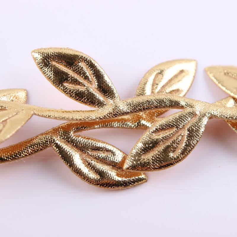 3set / mycket Gold Leaf Baby Girl Pannband Gold Vine Pannband Mamma - Kläder tillbehör - Foto 4