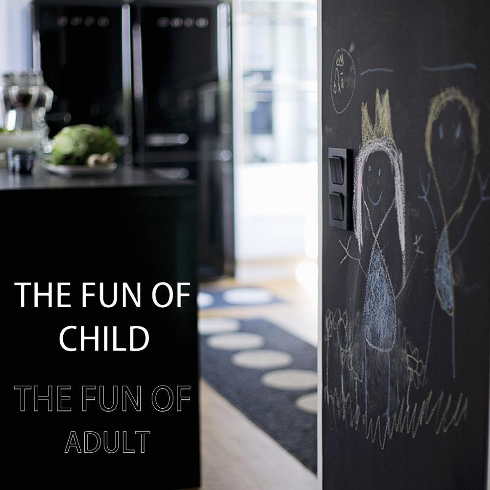 45x200cm Vinyl Chalkboard Wall Sticker Fjernbar Blackboard Kids Rooms - Indretning af hjemmet - Foto 5
