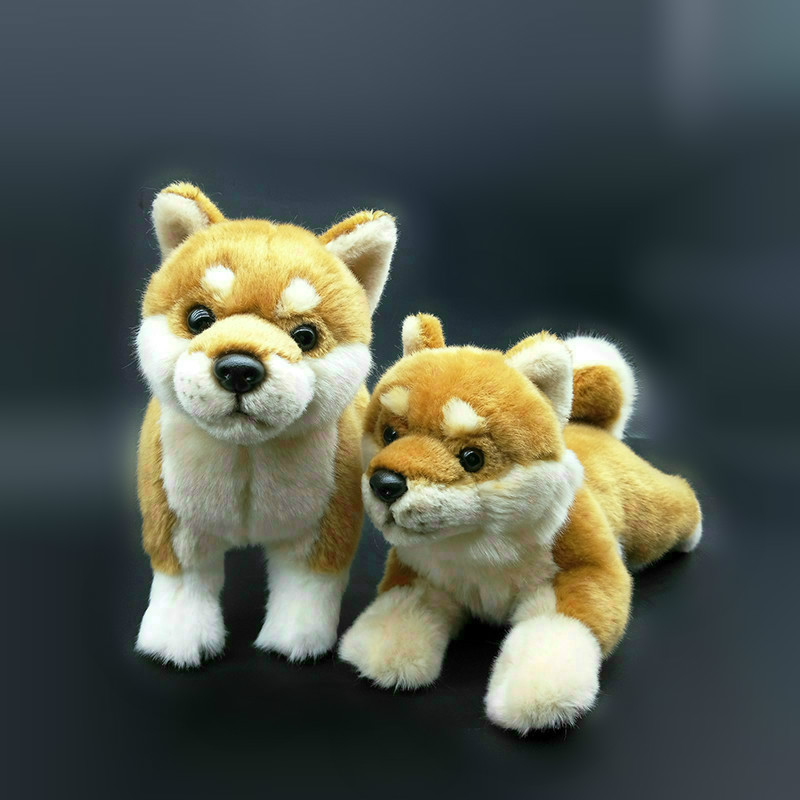 Cute Shiba Inu Plush Toys Simulation Yellow Dog Stuffed Dolls Soft Real Life Plush Toys For Children Birthday Gifts nooer new arrival husky shiba inu stuffed plush toy cute soft husky shiba inu stuffed pillow sofa cushion kids birthday gift