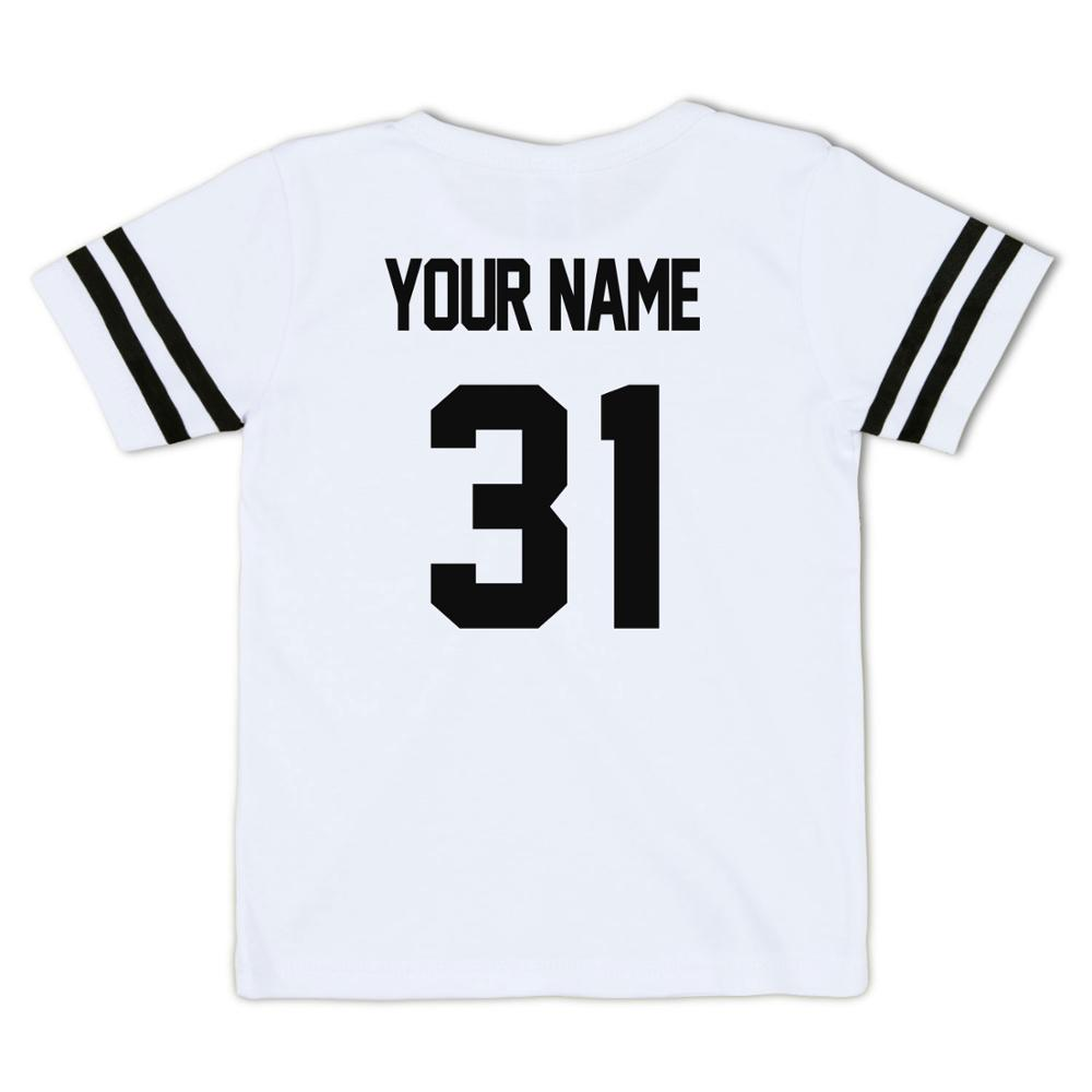 Image 3 - Kid T Shirt Personal Customize Football Sport Jersey Solid Summer Short Sleeve Casual Tees Baby Girl Boy Toddler Tops Clothing-in T-Shirts from Mother & Kids