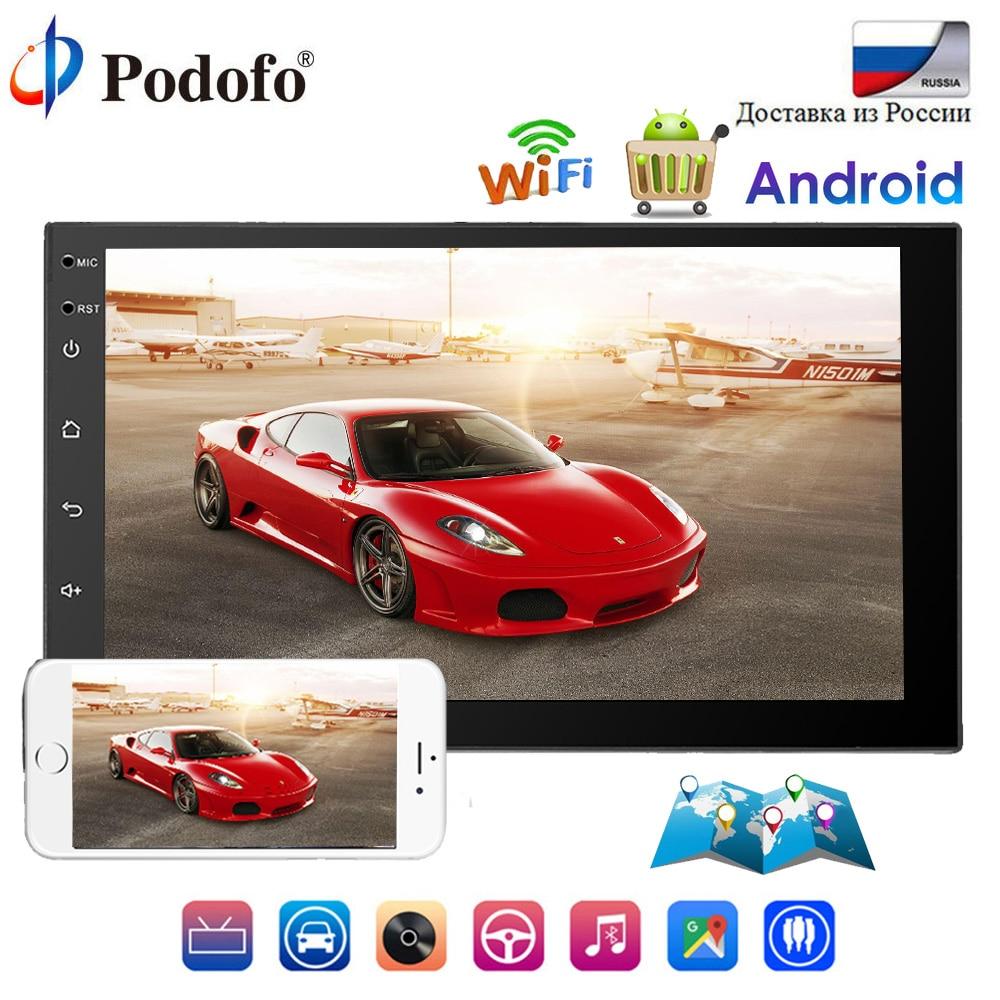 Podofo 2 din Universal Car Radio Android 7