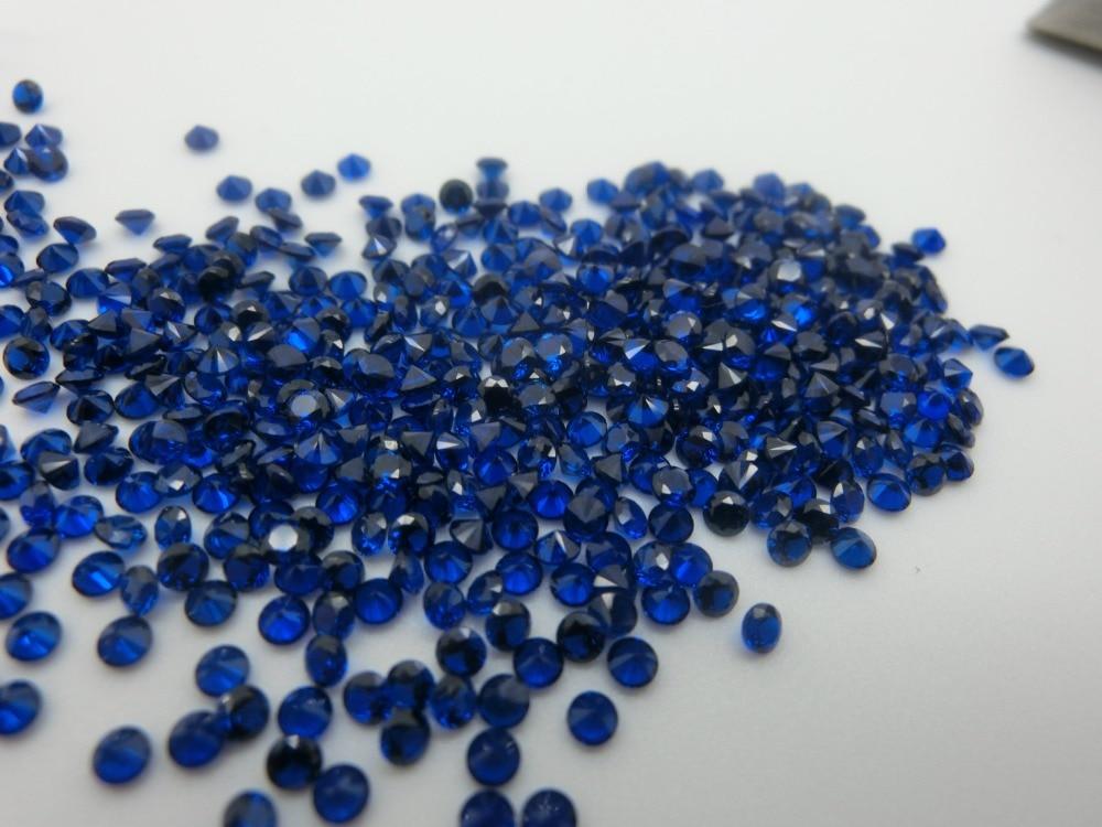 MRHUANG bijoux fournitures bleu zircon cubique zircon rond fournitures de bijoux à bricoler soi-même