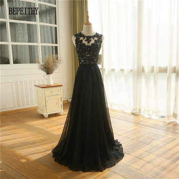 BEPEITHY New Arrival Robe De Soiree A line Chiffon Long Evening Dress Party Elegant Sexy Sheer Back Sleeveless Prom Gown 2019 - DISCOUNT ITEM  20% OFF All Category