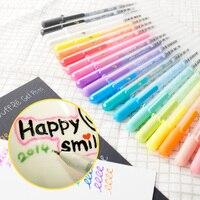 10 Màu Sắc/Bộ Graffiti Sáng Tạo Vẽ Markers Gel Ink Bộ Bức Tranh Bóng Màu 3D Thạch Bút Glass/Gốm/kim loại Nghệ Thuật Markers