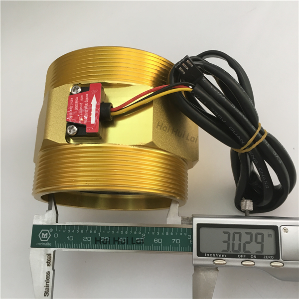 +DN80 Aluminum water Hall flow sensor meter (8)