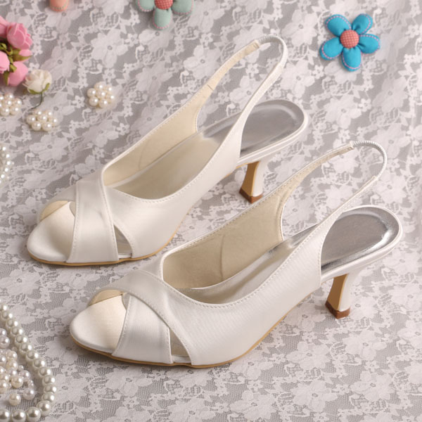 (20 Colors)Italian Style Hot Ladies Party Sandals Shoes 2015 Ivory Satin