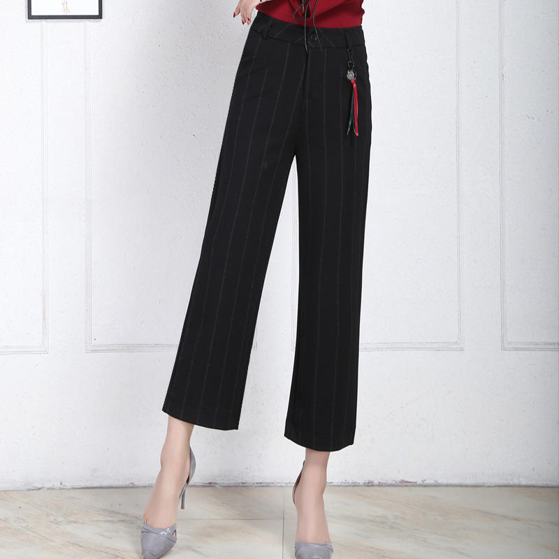 Women's Clothing Open-Minded 2018 Hot Summer Female Wrinkle High Waist Pants Bell Bottom Thin Wide Legs Range Chiffon Loose Pants Sexy Korean Style Capris High Quality