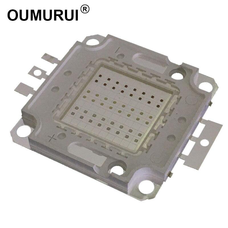 1Pcs 20W Watt High Power Blue 460-470nm SMD LED Chip Blub Beads COB Lamp
